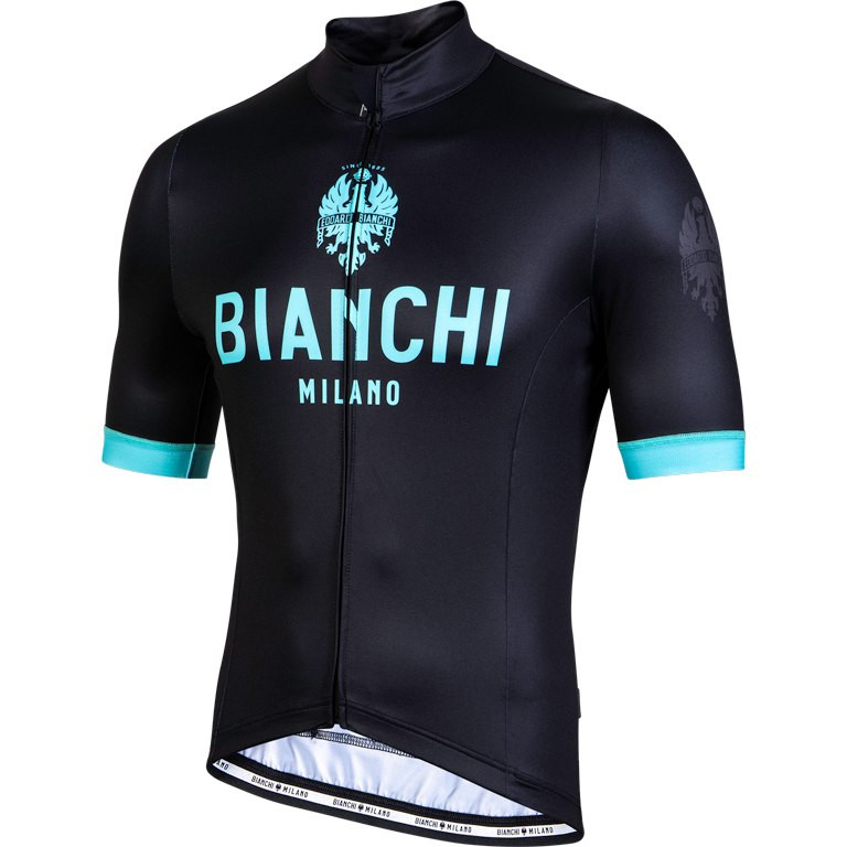 Bianchi Milano Levane Thermo Black Green Jersey