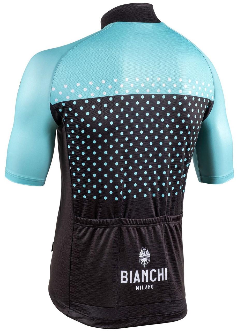 Bianchi Milano Quirra Green Black Jersey Rear