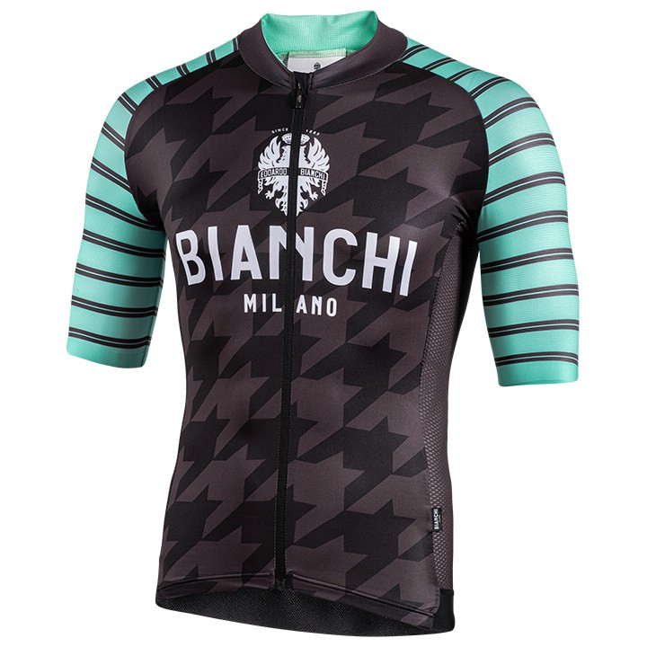 Bianchi Milano LOGO Long Sleeve Grey Wool Cycling Jersey Made in Italy Large