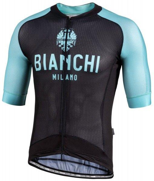 Bianchi Milano Valconca1 Aero Black Green Jersey