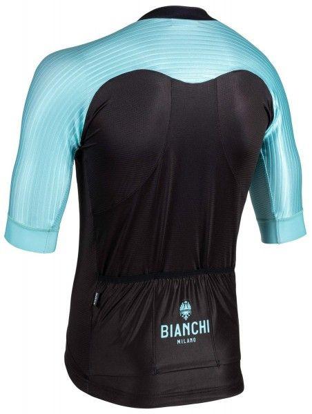 Bianchi Milano Valconca1 Aero Black Green Jersey Rear