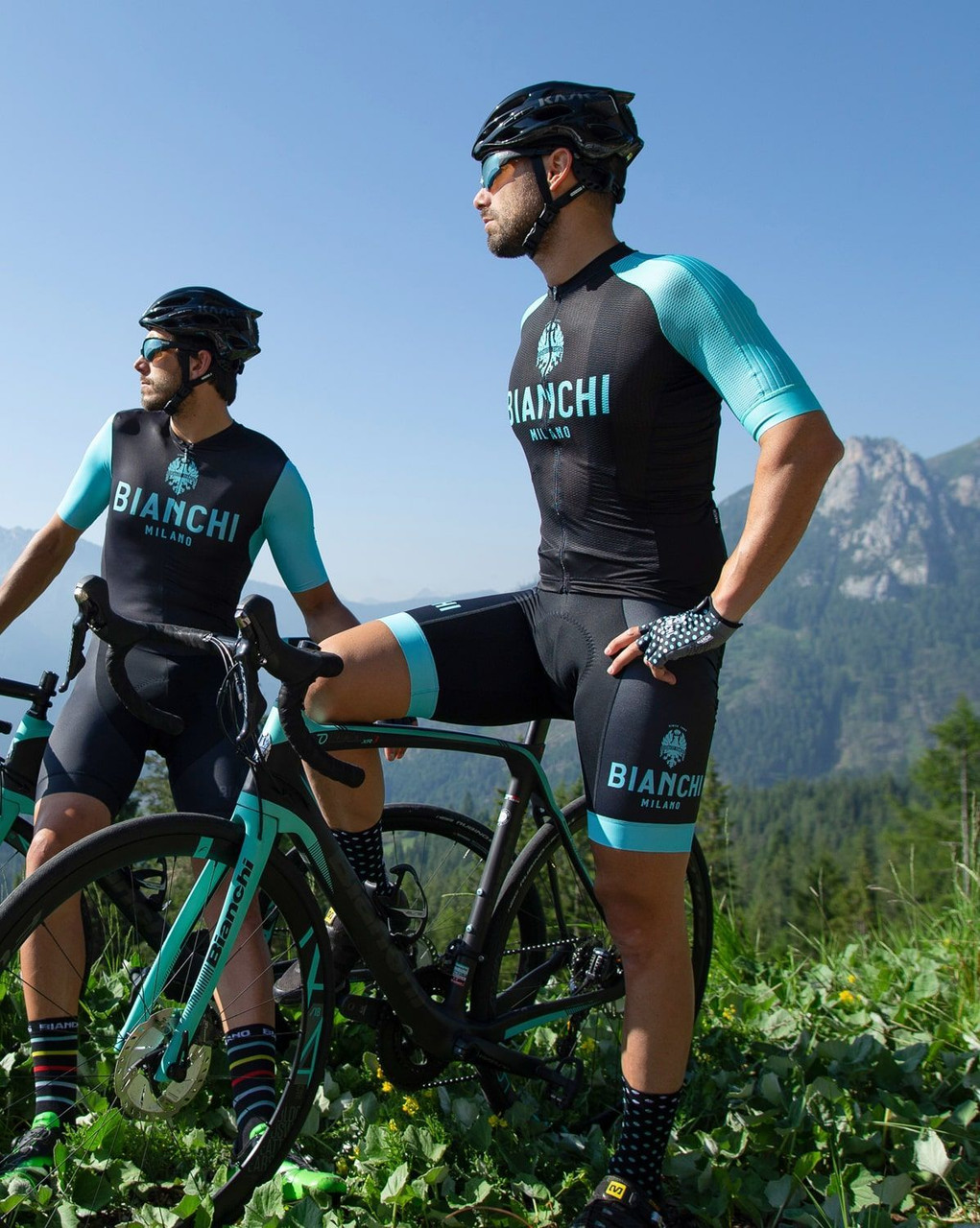 Bianchi Milano Valconca1 Aero Black Green Jersey Riders