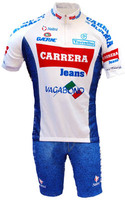 Carrera White Retro HZ Jersey Front View