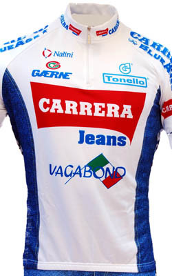 Carrera White Retro HZ Jersey Close Up View