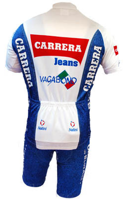 Carrera White Retro HZ Jersey Rear View