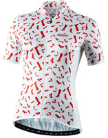 Nalini Red Shoes White Jersey