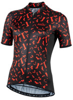 Nalini Red Shoes Black Jersey