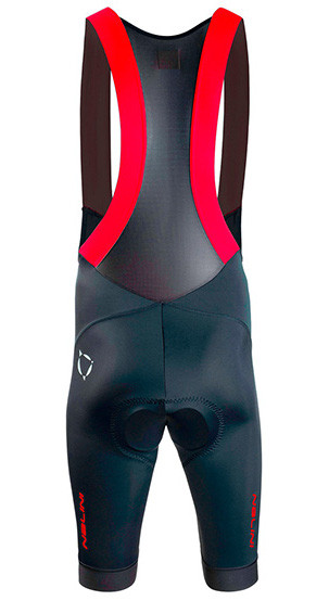 Nalini Athens 2004 Red Black Bib Shorts Rear