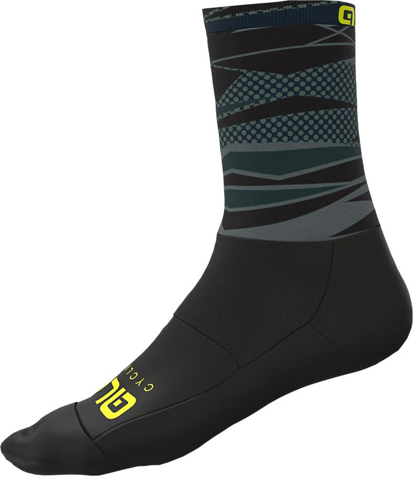 ALE' Rock Socks 16CM High Cuff Black Socks
