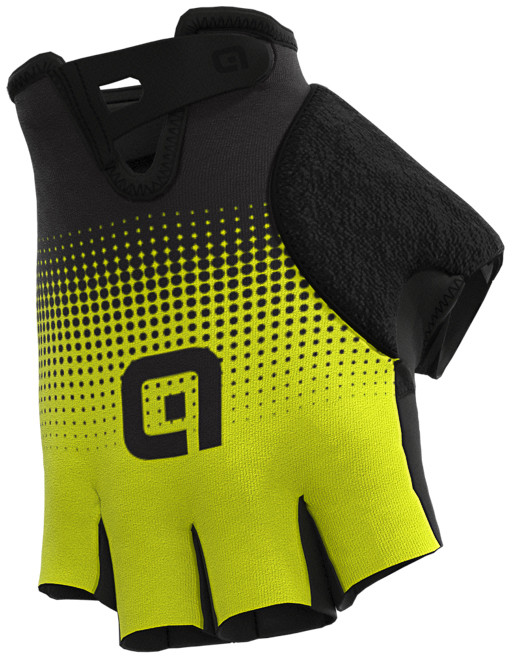 ALE' Dots Adjustable Strap Yellow Fluo Black Gloves