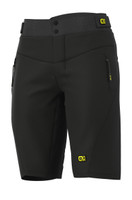 ALE' Gravel MTB Enduro No Pad Waist Black Shorts