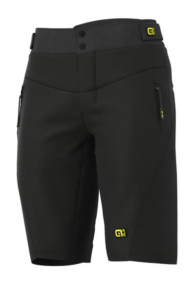 ALE' Gravel MTB Enduro No Pad Waist Black Shorts