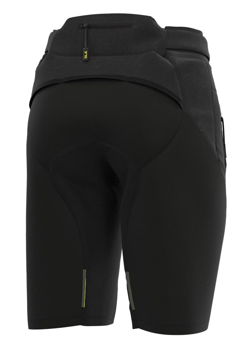 ALE' Gravel MTB Enduro No Pad Waist Black Shorts Rear