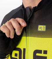 ALE' Blend Solid Black Yellow Jersey Rider