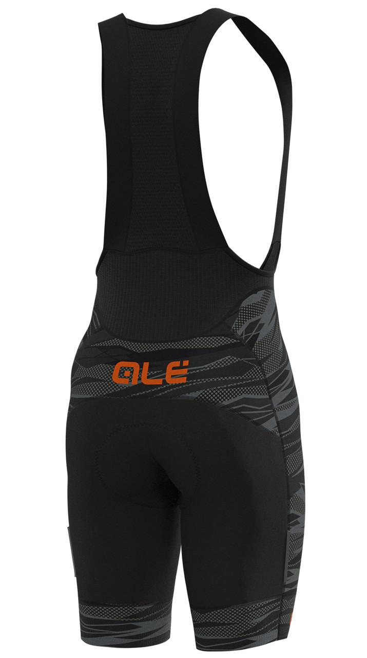 ALE' Rock PRR 4H Orange Bib Shorts Rear