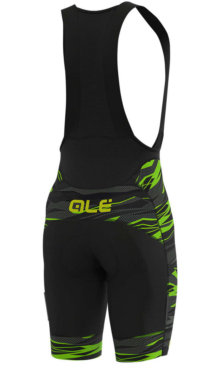 ALE' Rock PRR 4H Green Bib Shorts Rear