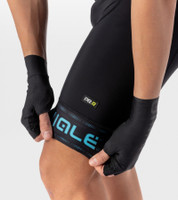ALE' Green PRR 4H Pad Black Light Blue Bib Shorts Rider
