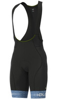 ALE' Green PRR 4H Pad Gray Bib Shorts