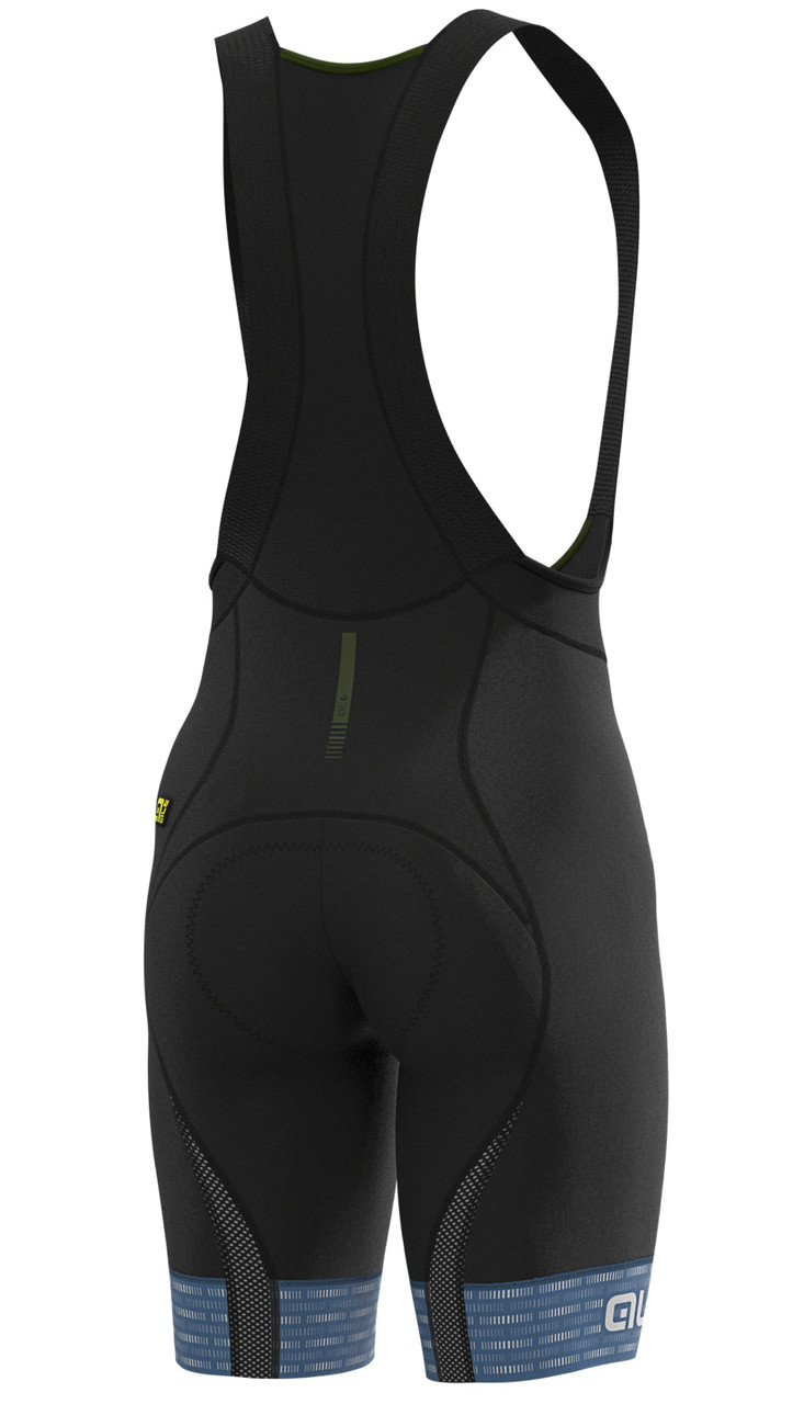 ALE' Green PRR 4H Pad Gray Bib Shorts Rear