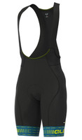 ALE' Green PRR 4H Pad Blue Bib Shorts
