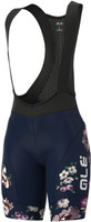 ALE' Fiori PRR Lady W4H Pad Blue Bib Shorts