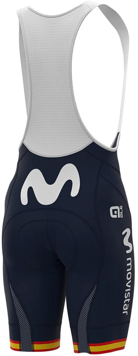 2020 Movistar Spanish Champion Bib Shorts Rear