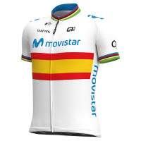 2020 Movistar Spanish Champion Full Zipper Jersey