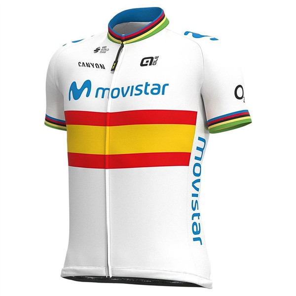 2020 Movistar Spanish Champion Full Zipper Jersey