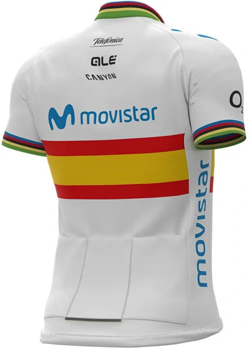 2020 Movistar Spanish Champion Full Zipper Jersey Rear