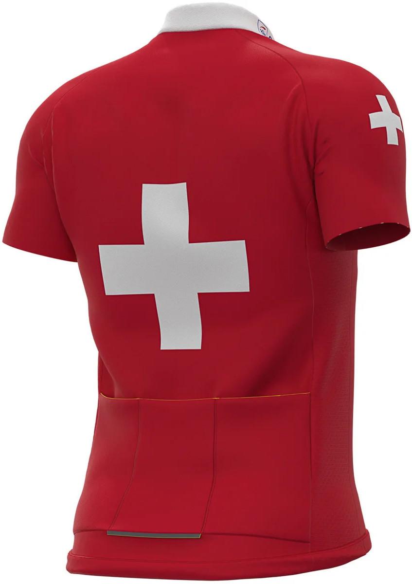 2020 Groupama FDJ Swiss Champion Full Zipper Jersey Rear