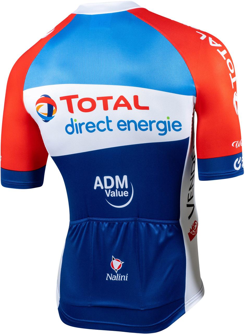 2020 Direct Energie Full Zip Jersey Rear