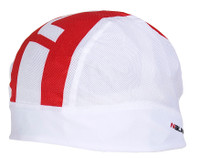 Nalini Pure White Red Skully Under Helmet Cap