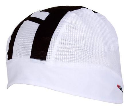 Nalini Pure White Black Skully Under Helmet Cap