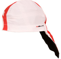 Nalini Red Under Helmet White Red Bandana
