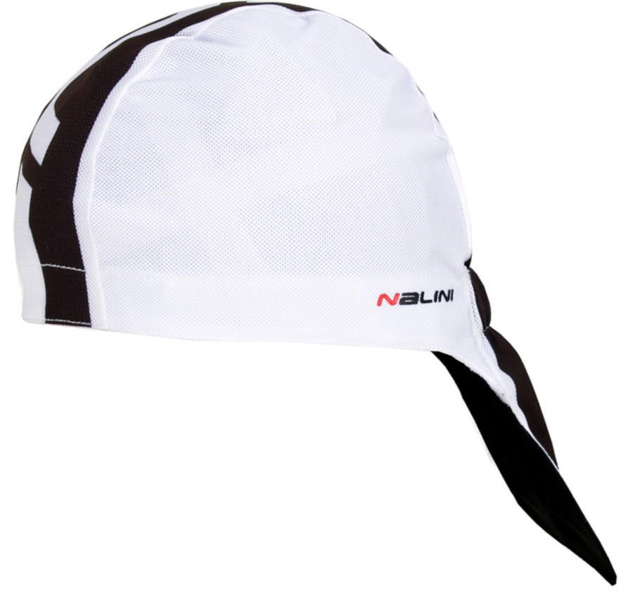 Nalini Red Under Helmet White Black Bandana