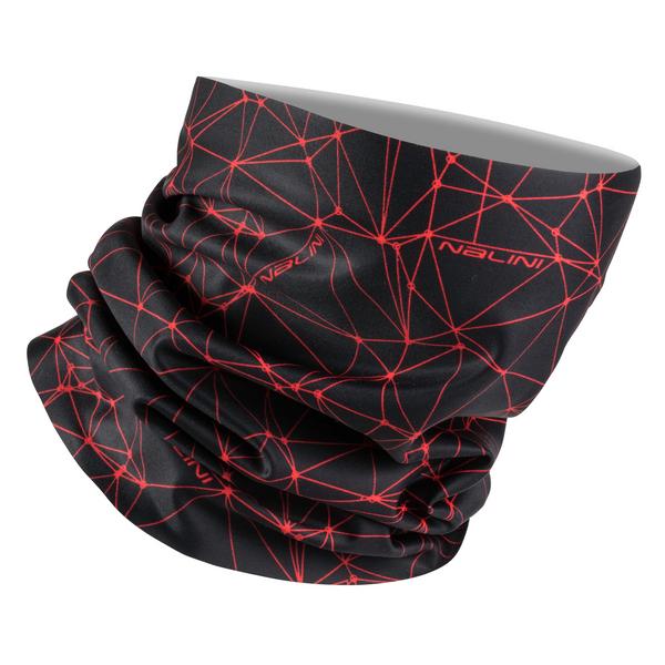 Nalini Collar 2.0 Black Red Neck Gaitor Tube