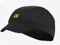 ALE' Black Sunny Vented Cycling Cap