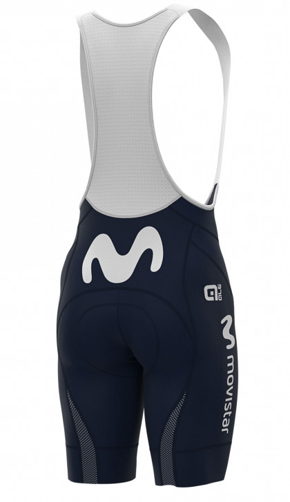 2020 Movistar PRR Team Issue Bib Shorts Rear