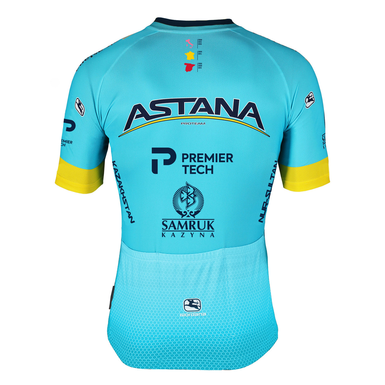 2020 Astana Premier Tech Vero Pro FZ Jersey  Rear