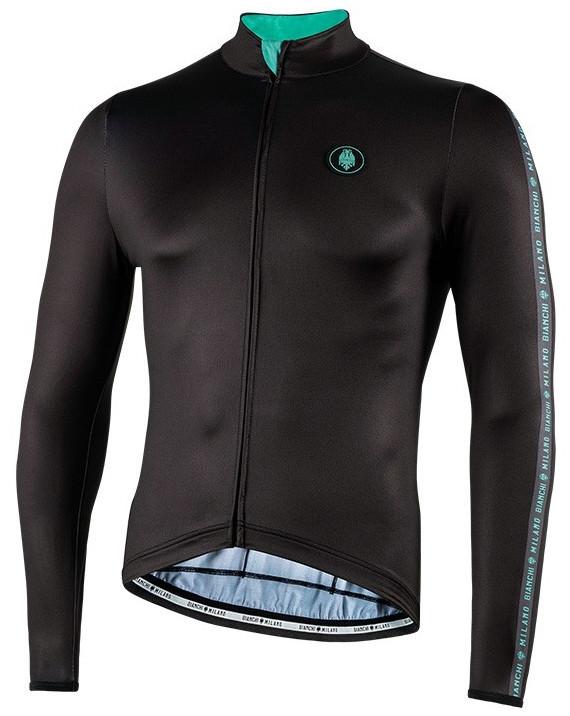Bianchi Milano Valfurva Black Long Sleeve Jersey