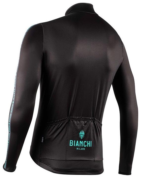 Bianchi Milano Valfurva Black Long Sleeve Jersey Rear