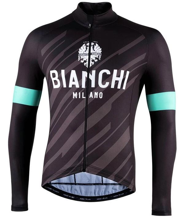 Bianchi Milano Bianzone Black Long Sleeve Jersey