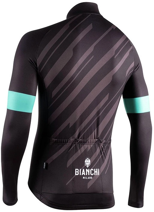 Bianchi Milano Bianzone Black Long Sleeve Jersey Rear