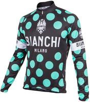 Bianchi Milano Storia1 Black Polka Dot Long Sleeve Jersey