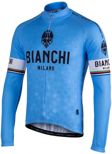 Bianchi Milano Storia1 Blue Long Sleeve Jersey