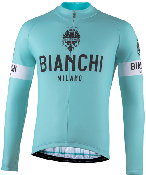 Bianchi Milano Storia Celeste Green Long Sleeve Jersey