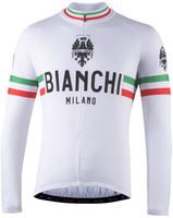 Bianchi Milano Storia White Long Sleeve Jersey