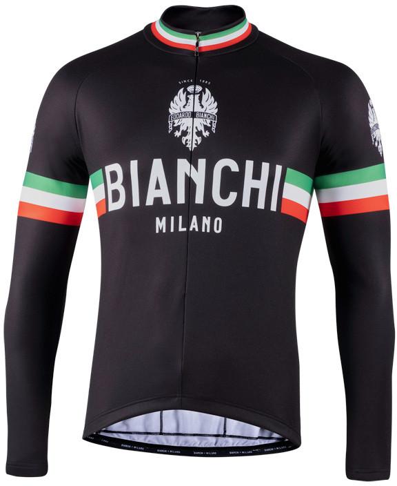 Bianchi Milano Storia Black Long Sleeve Jersey