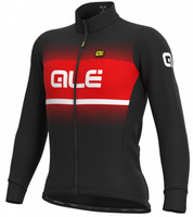 ALE' Blend Solid Winter Red Long Sleeve Jersey