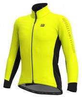 ALE' Fondo Solid Yellow Long Sleeve Jersey
